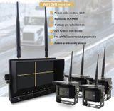 """Bezdrátové couvací kamery s monitorem - 4x kamera + 7"""" LCD s nahráváním (Obraz a Zvuk)"""