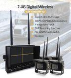 """Couvací kamera bezdrátová set - 2x kamera + 7""""display s nahráváním na SD kartu (Audio + Video)"""