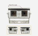 Dvojobjektivová couvací kamera s IR LED a širokým úhlem záběru až 190°