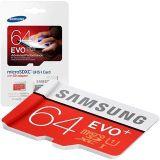 64GB paměťová karta Samsung micro SDXC EVO Plus + SD adaptér