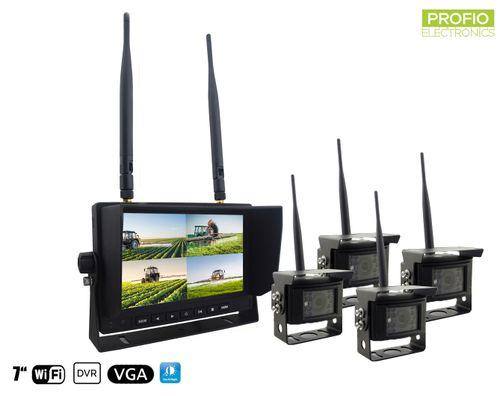 Bezdrátové couvací kamery s monitorem - 4x kamera + 7
