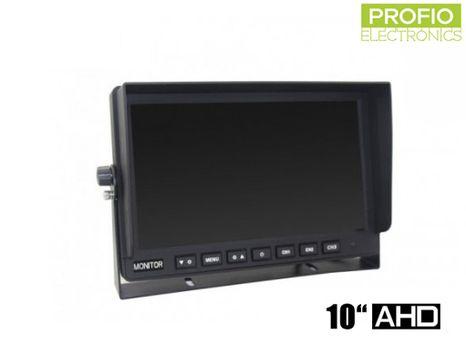"""AHD 10,1"""" LCD monitor pro couvací kamery s displejem 1024x600px a 3 AV vstupy"""
