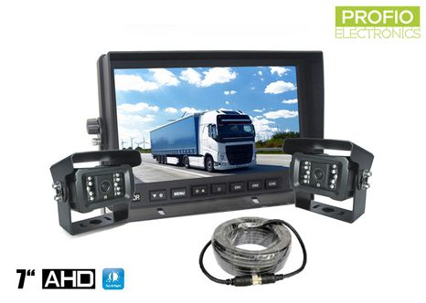 "AHD parkovací sada LCD monitor 7""+ 2 x kamera s 18 IR LED"