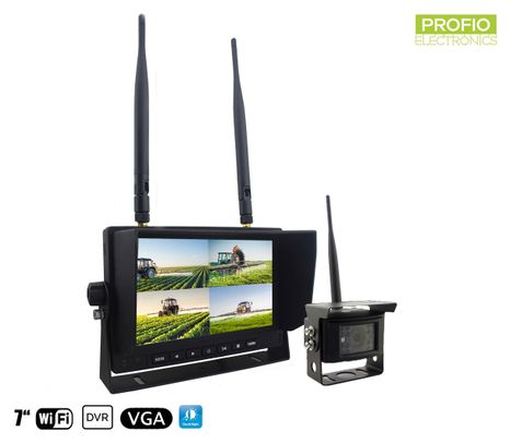 """Couvací kamera s monitorem - 1x kamera + 7 """"LCD Monitor s nahráváním na SD kartu (Audio + Video)"""