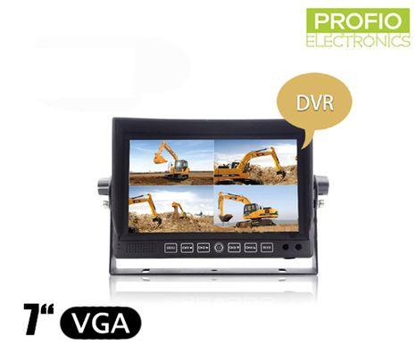 """DVR LCD couvací monitor 7"""" s nahráváním + 4 AV vstupy"""