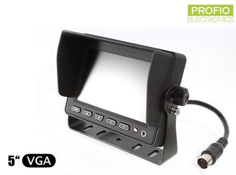 """LCD monitor 5"""" pro couvací kamery s nastavitelným držákem a sluneční clonou"""