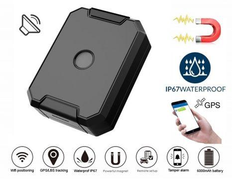 GPS lokátor vodotěsný do auta + baterie 6000mAh + odposlech